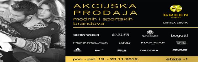Akcijska prodaja modnih i sportskih brandova, Green Gold Centar, etaža -1!