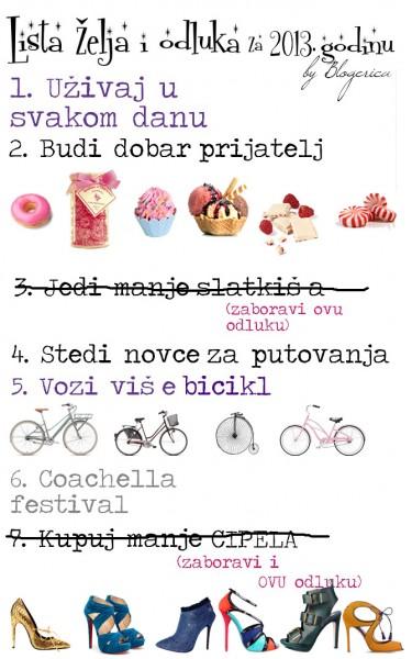 Lista želja i odluka za 2013. godinu