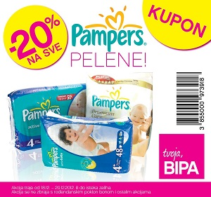 Bipa kupon Pampers