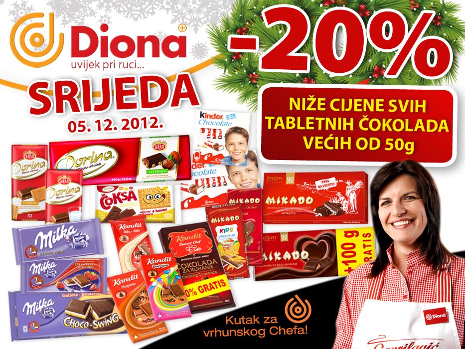 Diona akcija čokolade