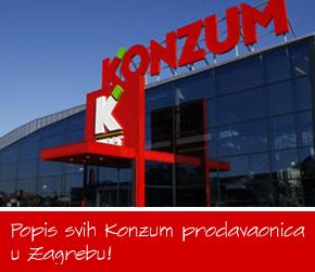 Konzum prodavaonice Zagreb