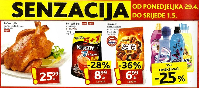 Konzum senzacija za poetak tjedna