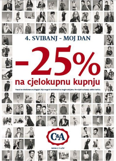 C&amp;A akcija -25% na cjelokupnu kupnju!