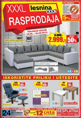 Lesnina katalog XXXL rasprodaja