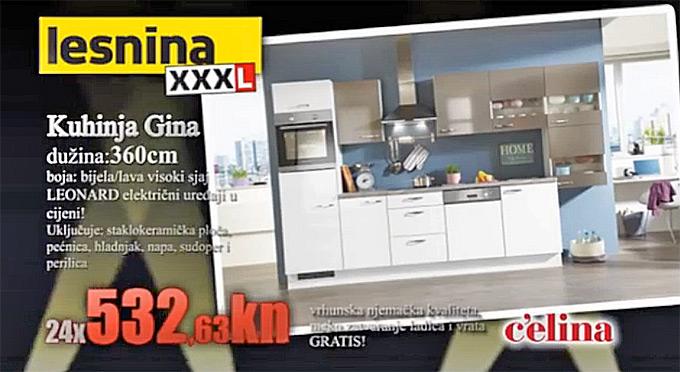 Lesnina Gina kuhinja