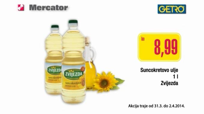 Mercator suncokretovo ulje