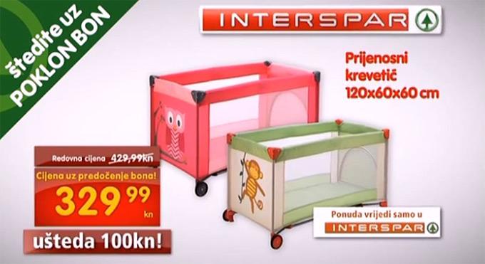 Spar Interspar krevetić