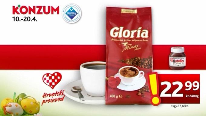 Konzum kava Gloria
