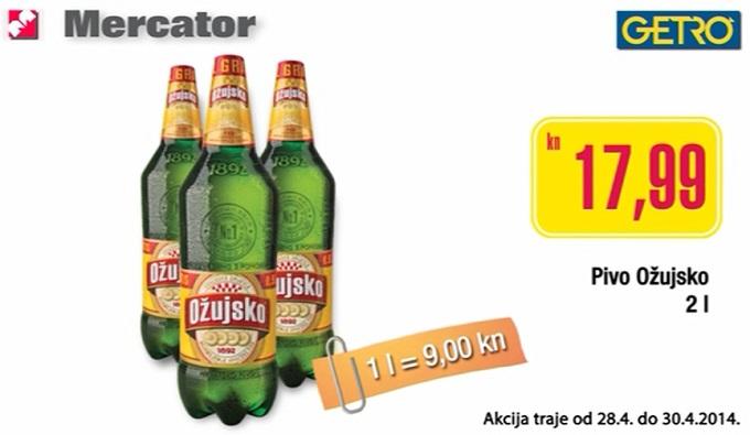 Mercator Getro pivo Ožujsko