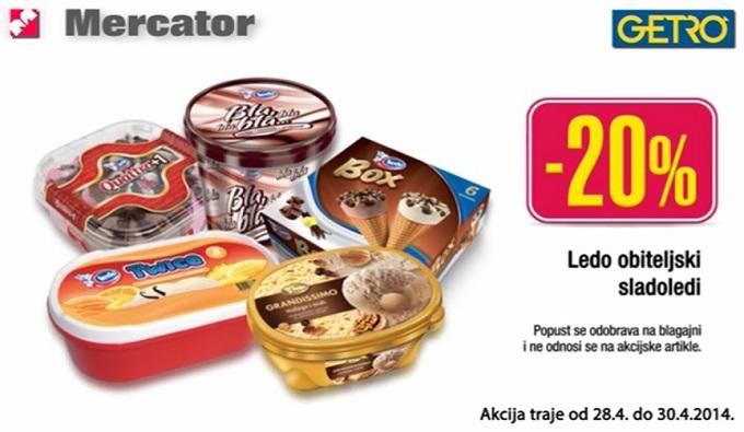 Mercator Getro sladoledi