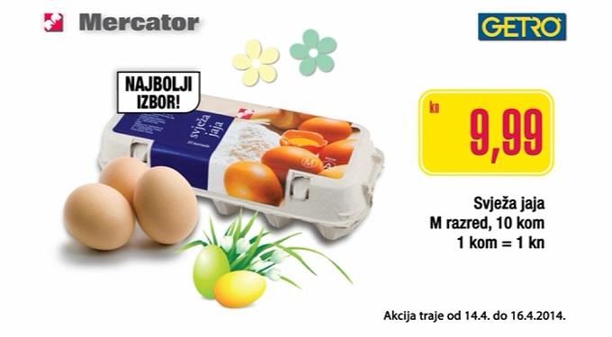 Svježa jaja Mercator Getro