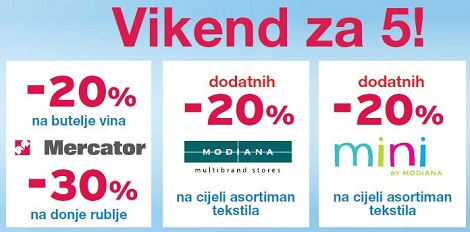 Mercator vikend akcija
