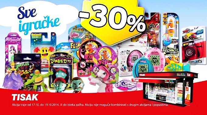 Tisak sve igračke -30% popust