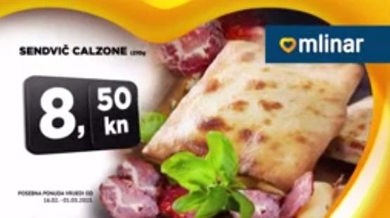 Mlinar akcija sendvić calzone