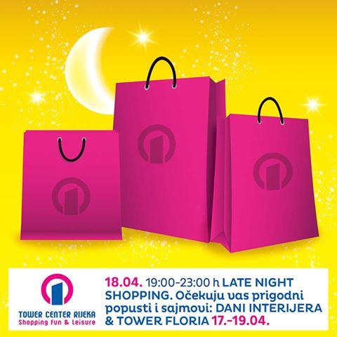 Tower centar Rijeka noćni shopping