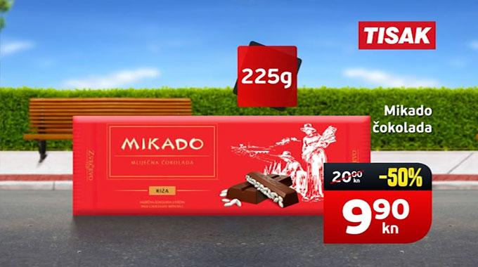Mikado čokolada