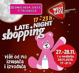 West Gate noćni shopping Dani beba, djece i trudnica
