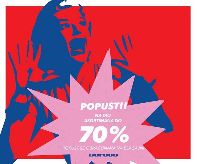 Borovo akcija 70 posto popusta