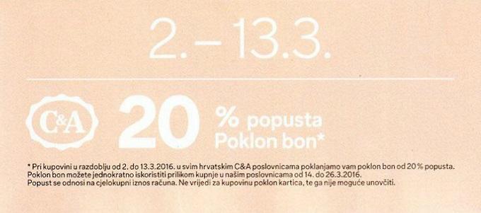 C&A kupon