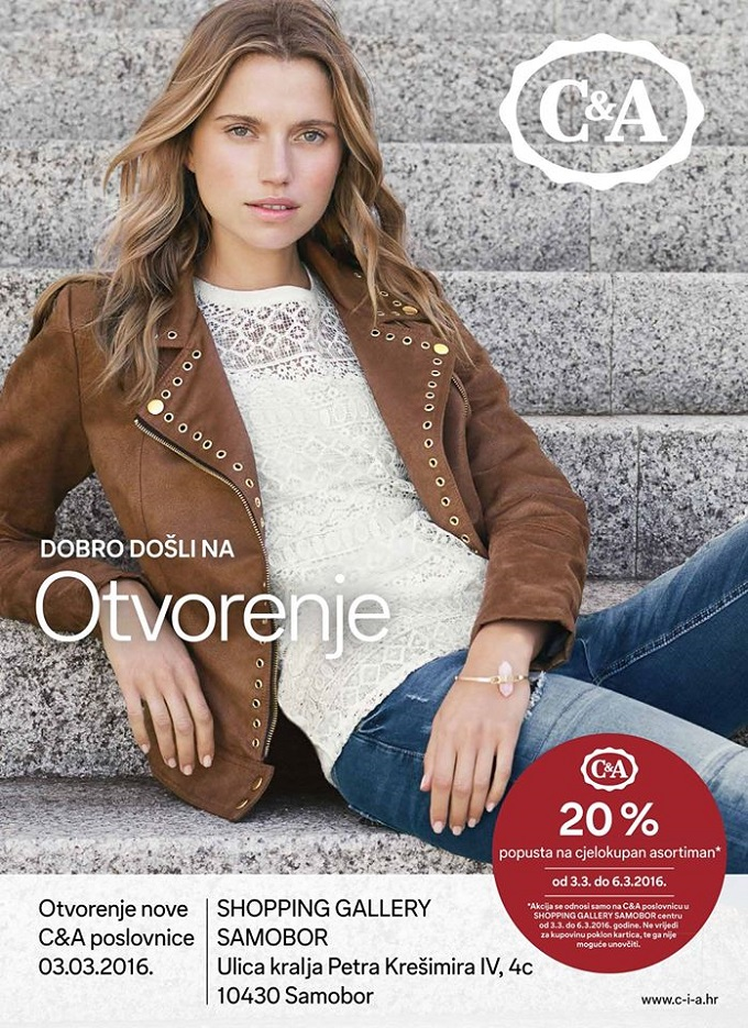 C&A popust Shopping Gallery Samobor