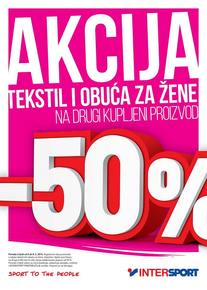 Intersport akcija Dan žena