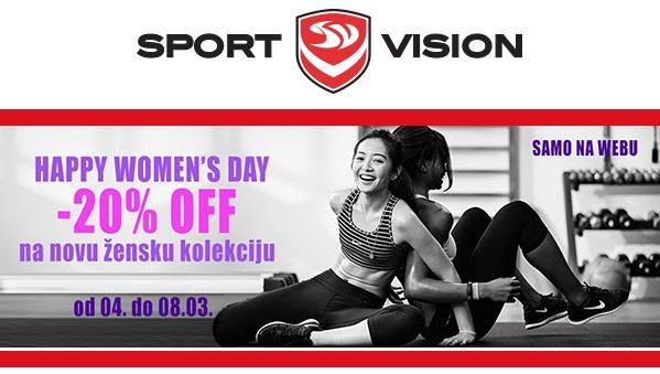 Sport Vision akcija 20% popusta ženska kolekcija