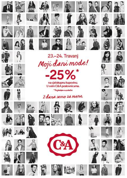 C&A 25% poputa sve