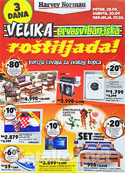 Harvey Norman katalog 1 maj