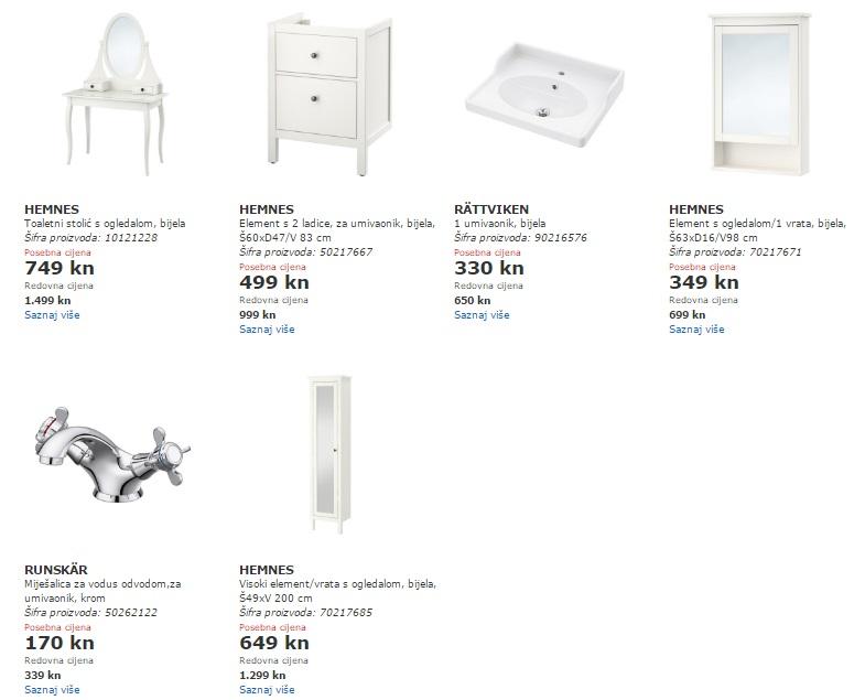 Ikea stolići akcija