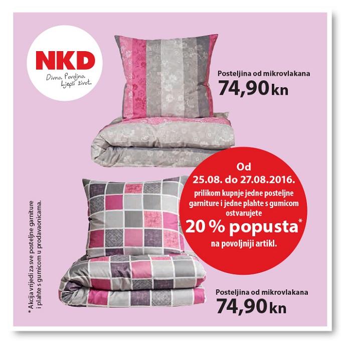 NKD akcija posteljina