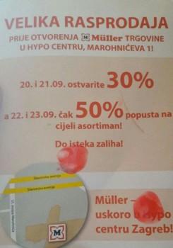 Muller velika rasprodaja