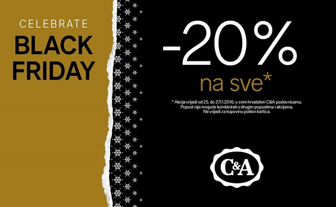 C&A Black friday akcija