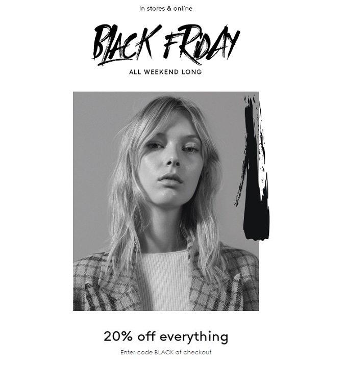 Mango akcija Black friday