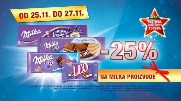 Metro vikend akcija Milka čokolade