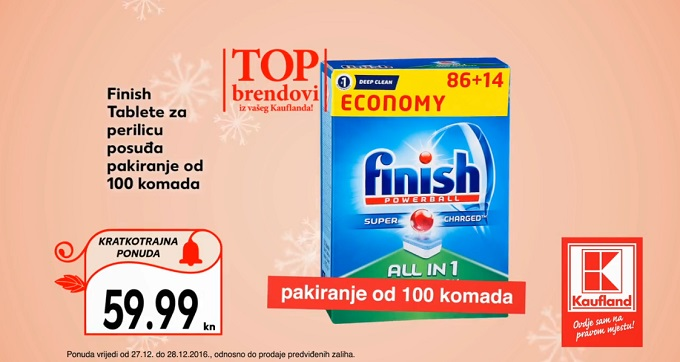 Kaufland akcija Finish tableteKaufland akcija Finish tablete