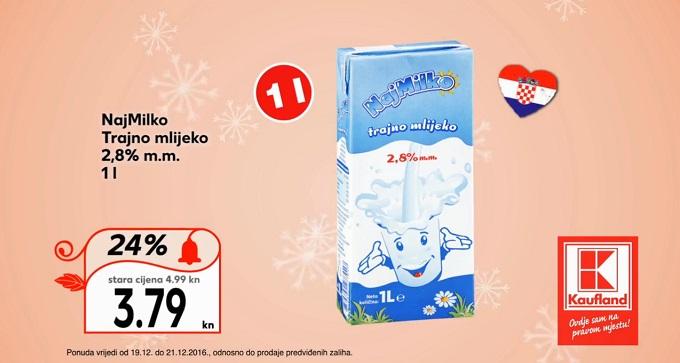 Kauflandn akcija trajno mlijeko
