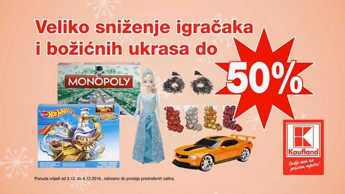 Kaufland vikend akcija igračke božićni ukrasi