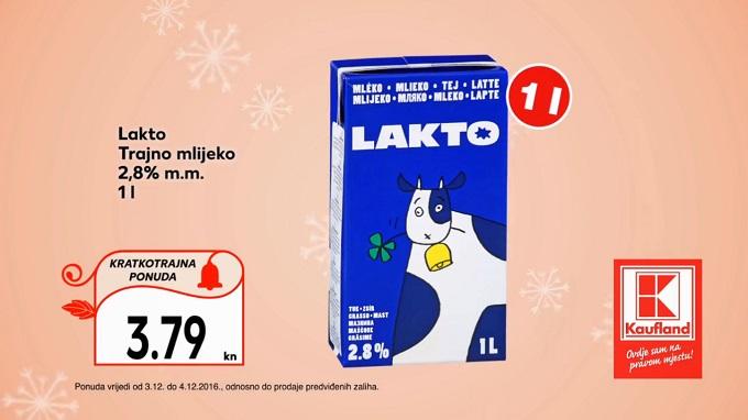 Kaufland vikend akcija trajno mlijeko