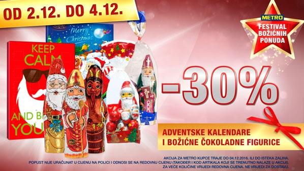 Metro vikend akcija božićne čokoladne figurice