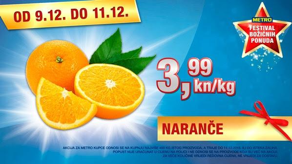 Metro vikend akcija naranče