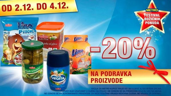 Metro vikend akcija Podravka proizvodi