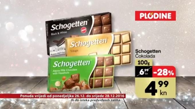Plodine akcija čokolada Schogetten