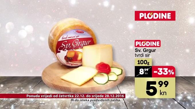 Plodine akcija tvrdi sir sv. Grgur