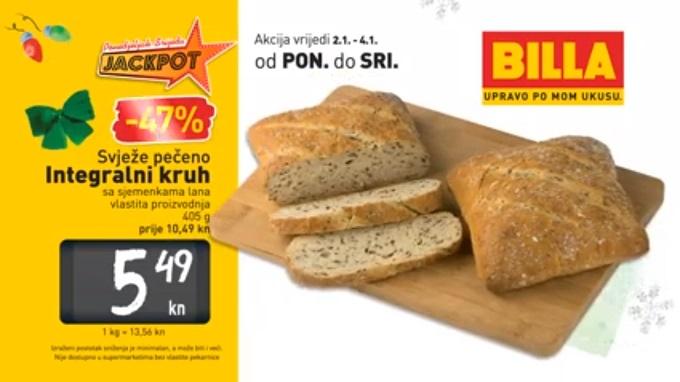 Billa akcija integralni kruh