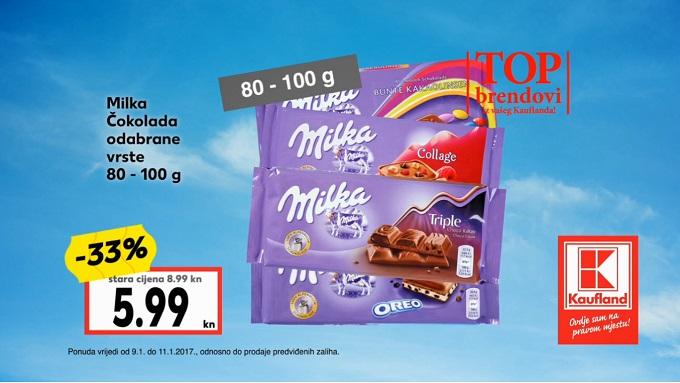 Kaufland akcija Milka čokolade