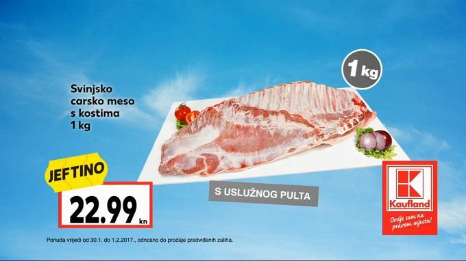 Kaufland akcija svinjsko carsko meso