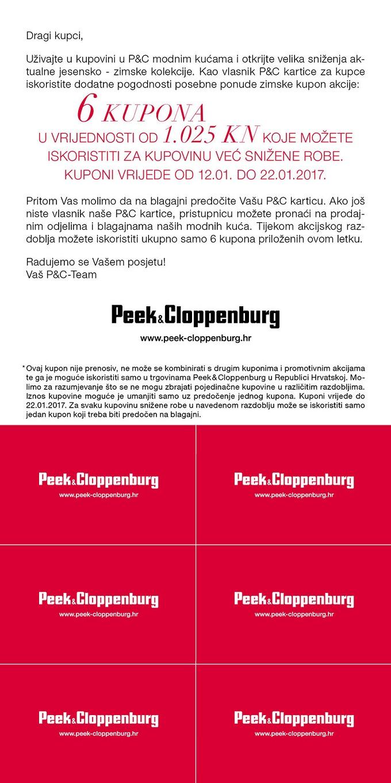 Peek & Cloppenburg kuponi sniženje