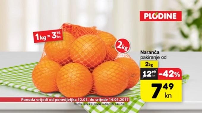 Plodine akcija naranča
