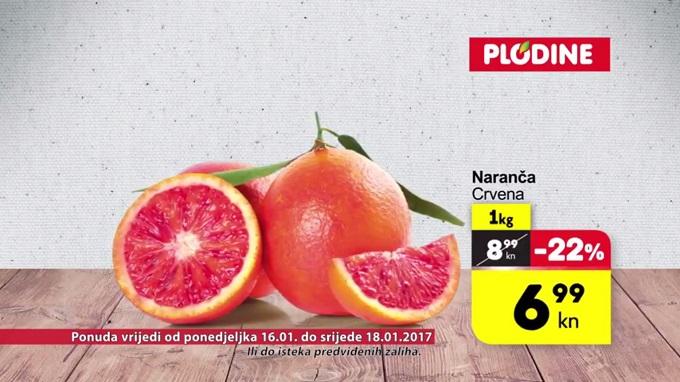 Plodine akcija naranča crvena