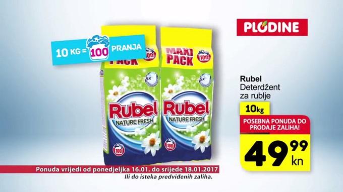 Plodine akcija Rubel deterdžent